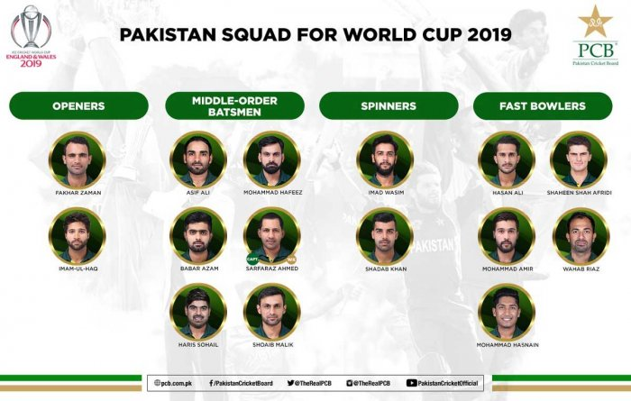 The selectors have axed allrounder Faheem Ashraf and left-arm pacer Junaid Khan from their initial World Cup squad to make way for the two senior players. Image courtesy: Twitter
