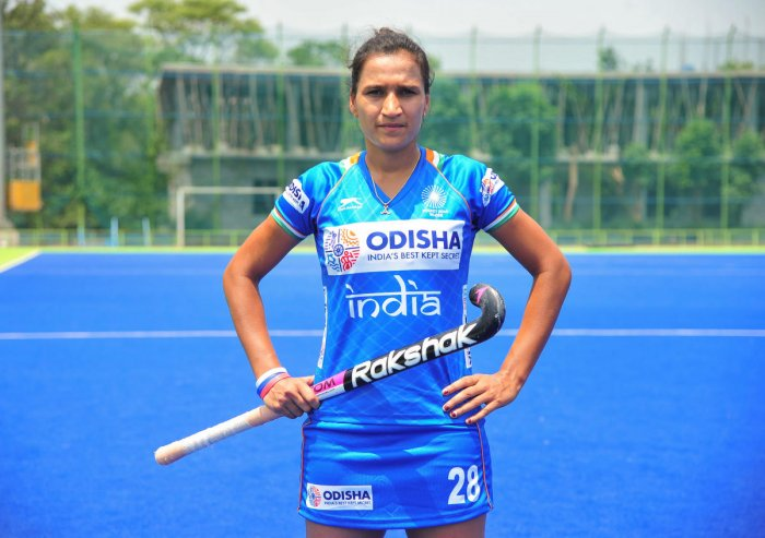GEARING UP Indian women hockey team captain Rani Rampal is keen to be back at the Olympics. PTI