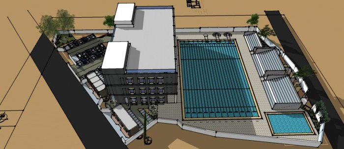 The blueprint of the proposed sports complex coming up in Dharwad.