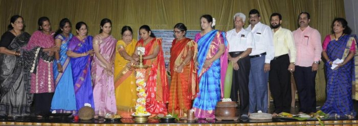 Deputy Commissioner Hephsiba Rani Korlapati inaugurates the 'Ashadadallondu Dina – Mahileyara Koota' programme in Udupi.