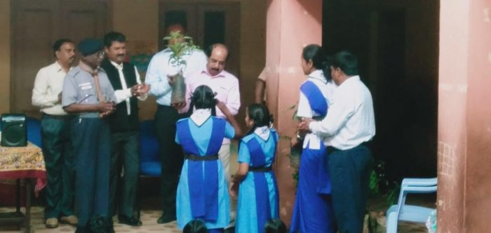 Saplings were distributed to the students on the occasion. Special arrangement