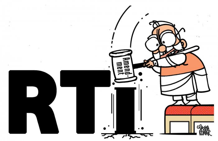 "Though the government sought to dispel ""the apprehensions and misgivings"" of the members, assuring that the proposed amendments to the RTI Act were not intended to dilute the powers, the opposition remained unconvinced and staged a walkout."
