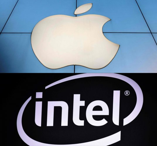 Apple is apparently in talks with Intel to acquire their smartphone chip (AFP File Photos)