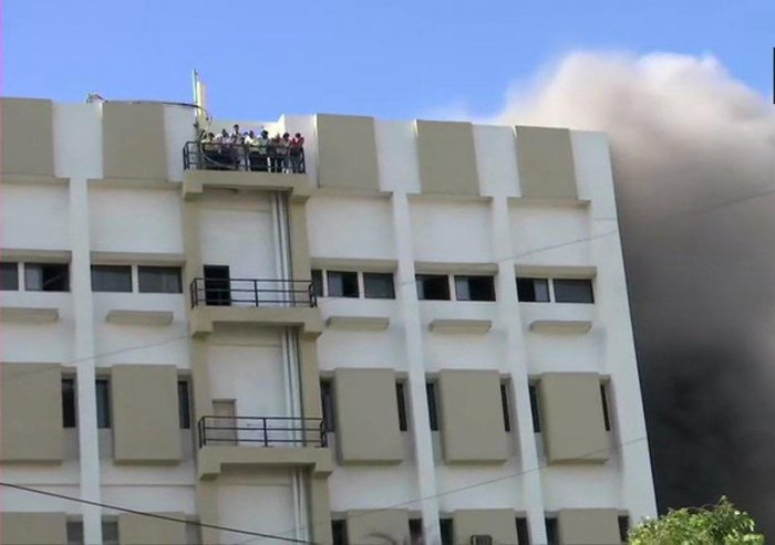 The Mumbai Fire Brigade, Mumbai Police and the BrihanMumbai Municipal Corporation rescued people and a coordinated operation lasting for several hours. (PTI Photo)