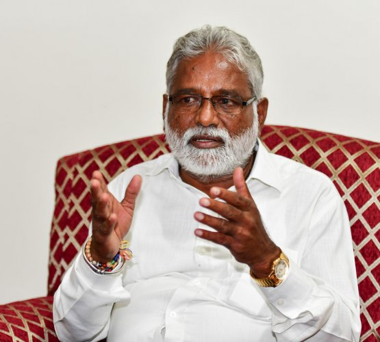 Karnataka Primary Education Minister N Mahesh, of the BSP. (DH File Photo)