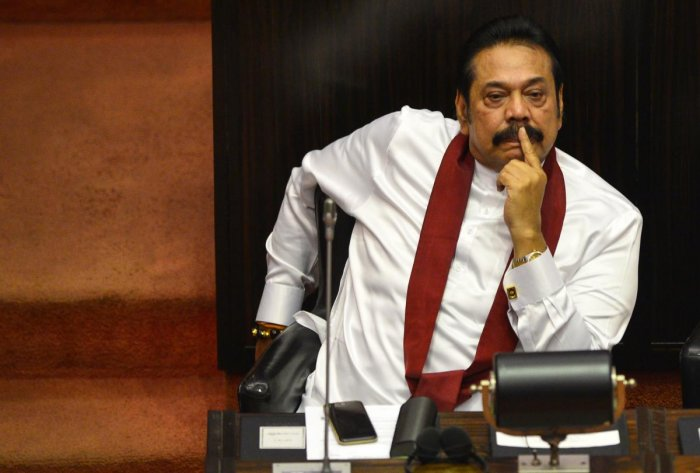 Opposition leader Mahinda Rajapakse told parliament that Voule's plans to meet with senior judges overseeing cases concerning military excesses amounted to foreign interference. Photo credit: AFP