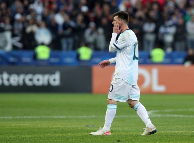 Messi got into a heated argument with Gary Medel during Argentina's clash with Chile in the Copa America (Reuters File Photo)