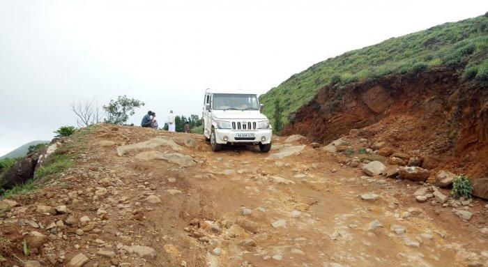 Aview of Mandalpatti road in Madikeri.