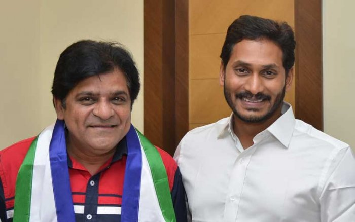 Actor Ali with Y S Jaganmohan Reddy on Monday