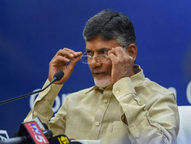 Chief Minister Chandrababu Naidu kick blamed Jaganmohan Reddy for the entire fiasco surrounding the death of Vivekananda Reddy. (PTI File Photo)