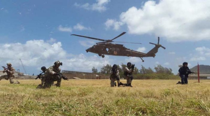 The training focuses on mutual defence operations. (Image: US Consulate)