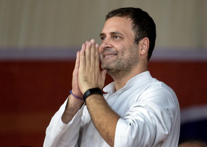 Rahul will address a public meeting at the Ajitsingh Nagar stadium in Vijayawada around 11.30 am and will leave for Bengaluru by a special flight, from where he will leave for Kalyandurg in Anantapur district. (PTI File Photo)