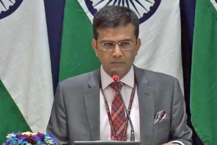 Ministry of External Affairs Spokesperson Raveesh Kumar. File photo