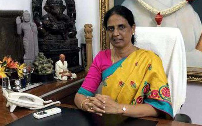 File photo of former Home Minister P Sabitha Indra Reddy
