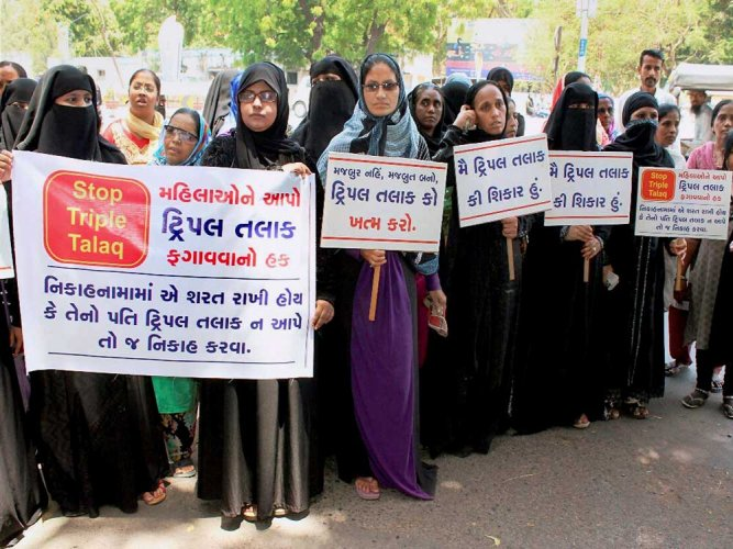 The contentious issue of triple talaq (divorcing by pronouncing the word talaq three times in one go) has been included in the syllabus of sociology at Lucknow University. (PTI File Photo)