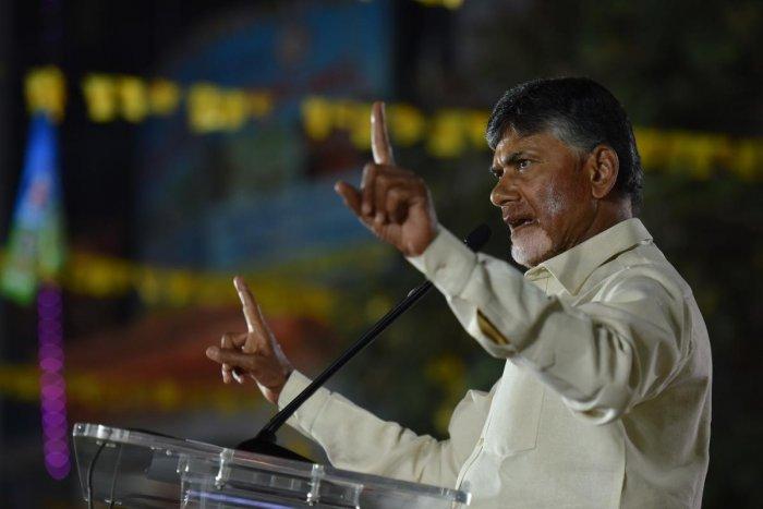 Andhra Pradesh Chief Minister and Telugu Desam Party national president Nara Chandrababu Naidu. DH photo