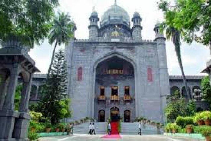File photos of Telangana HC and AP High Court (under construction).