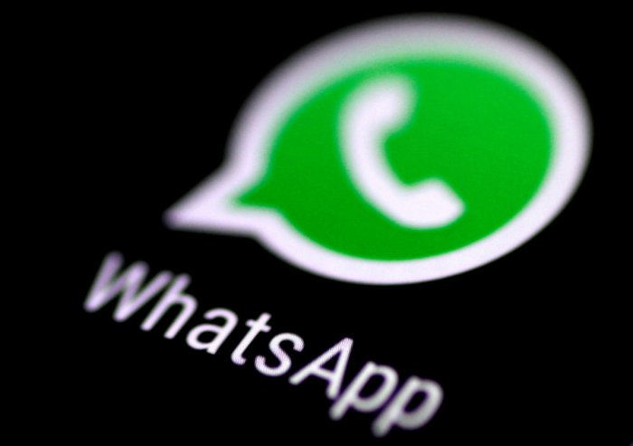 The WhatsApp messaging application is seen on a phone screen. Reuters file photo