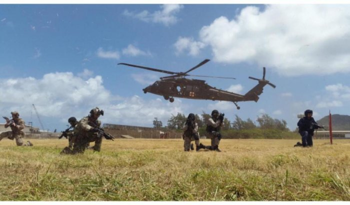 File photo of joint exercises. Photo by US Consulate