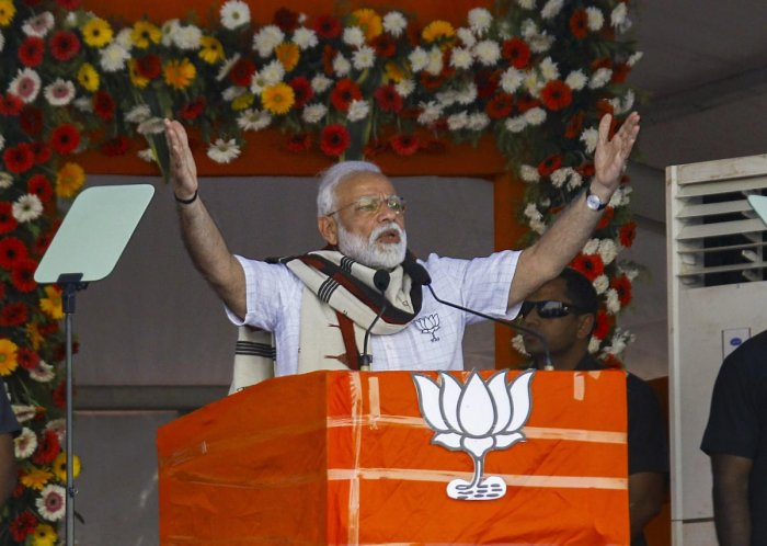 Modi said he was pained by the way the Congress had raised suspicion over the manner the cross border terrorism was tackled by Indian armed forces. (PTI Photo)