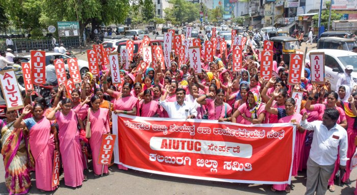 The central trade unions in a joint statement demanded the withdrawal of the two codes from the Lok Sabha. (DH File Photo. For representation only)