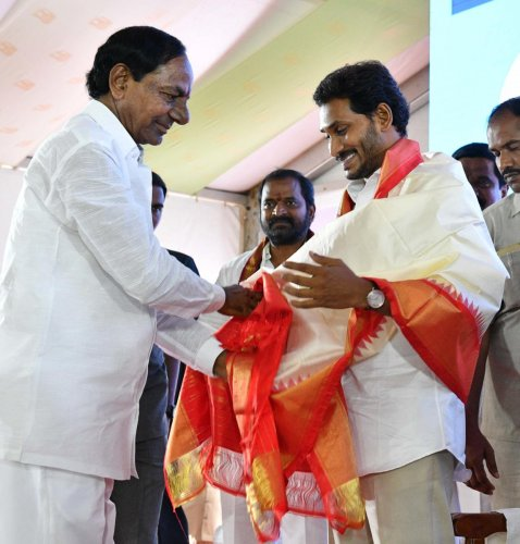 File photo of KCR and Y S Jaganmohan Reddy.
