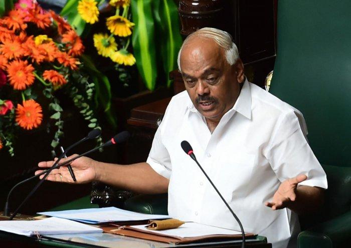 Legislative Assembly speaker K R Ramesh Kumar. File photo