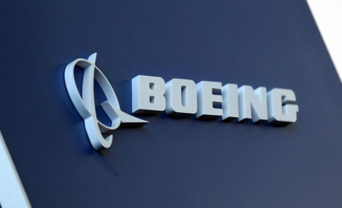 The Boeing logo (Reuters)