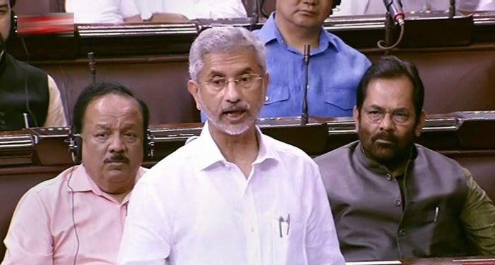 "To a supplementary question, Jaishankar said the ministry was in the ""last stages of the tender"", which has two components -- international and domestic. (RSTV/PTI Photo)"