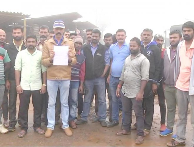 Tourist jeep drivers stage a protest opposing the ban on the entry of tourists into Mandalpatti.