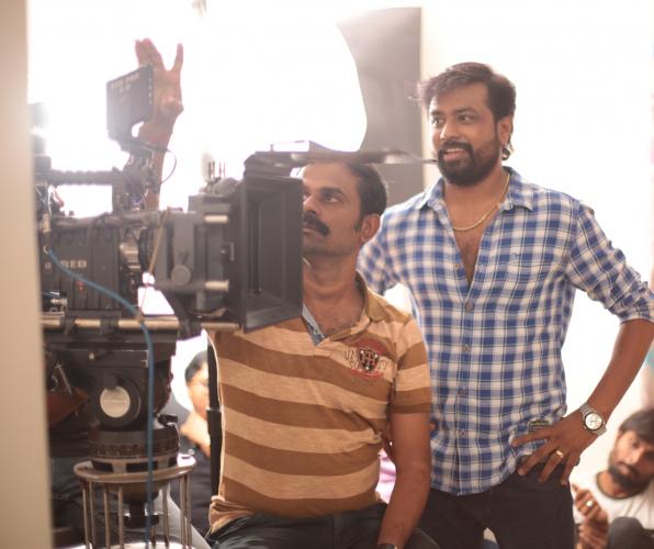 Pradeep Varma (right) on the set on his upcoming untitled film.