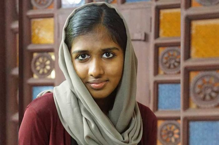 Faheema Shirin, a second-year BA English literature student of the Sree Narayana Guru College at Chelannur in Kozhikode district, was even allegedly ousted from the college hostel accusing that she was not following the norms.