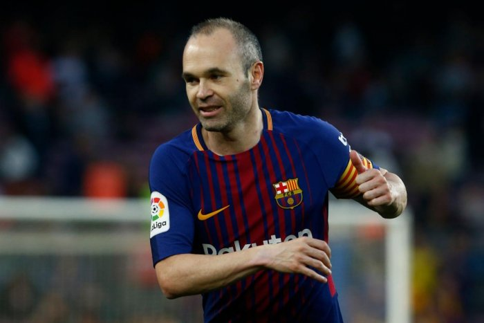 File picture of Andres Iniesta during his stint in Barcelona. Photo credit: AFP