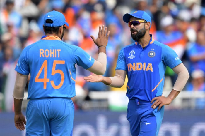 File picture of Rohit Sharma and Virat Kohli. Photo credit: AFP