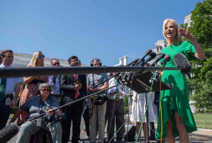 White House senior adviser Kellyanne Conway. (AFP File Photo)
