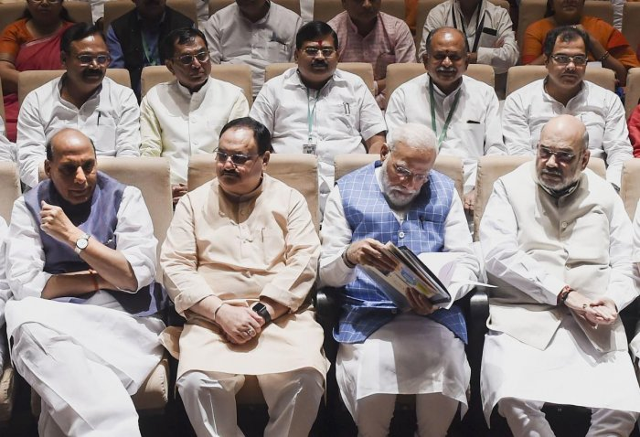 The BJP top brass is said to be in a dilemma on the Karnataka political developments. PTI