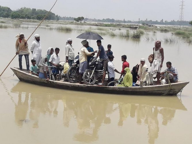The flood situation remained grim in Bihar, where the death toll rose to 127 on Friday. (File Photo)