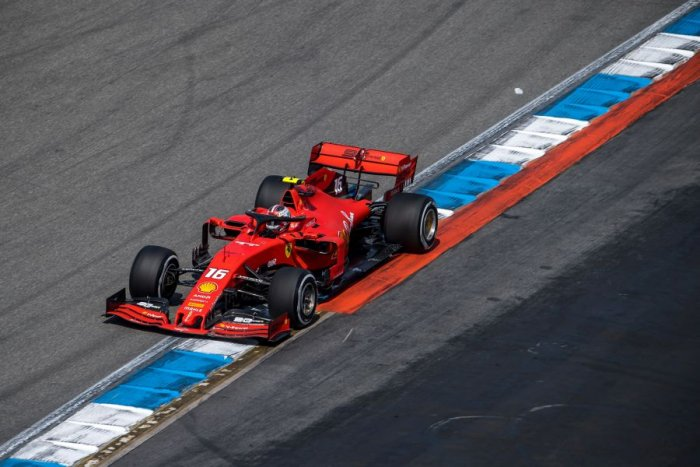 Ferrari's Charles Leclerc in action during free practice ahead of the weekend's German Grand Prix. Picture credit: AFP
