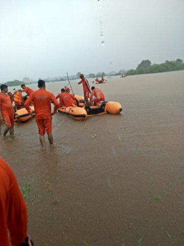The NDRF, IAF and two columns of the army are currently deployed to rescue the passengers of the Mahalaxmi Express
