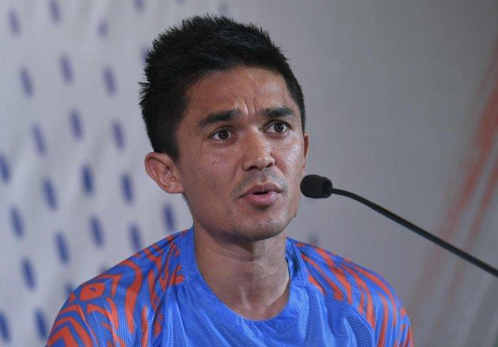 File photo of India football team Captain Sunil Chhetri. Photo credit: PTI