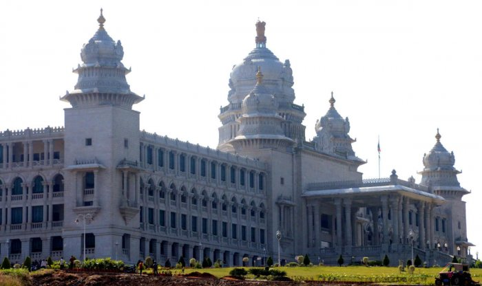 The Bengaluru City Police (BRP) has issued prohibitory orders under CrPC section 144 around Vidhana Soudha (DH Photo)