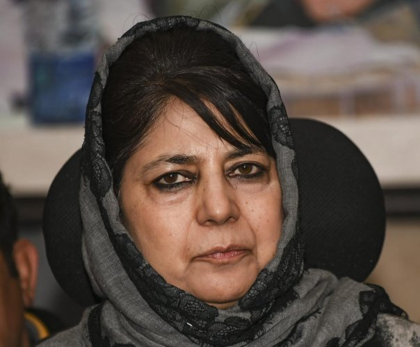 "Jammu and Kashmir is a ""political problem"" which would not be solved by military means, former chief minister Mehbooba Mufti said (PTI Photo)"