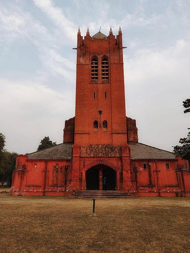All Saints Garrison Church in Lucknow. photos by author