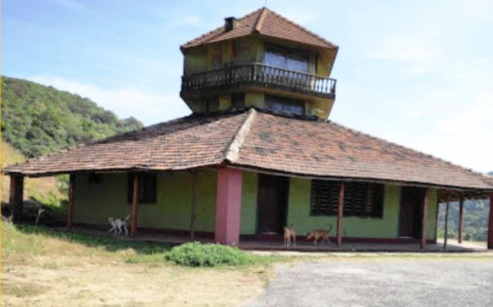 A view of Malaya Marutha guest house on the foothills of Charmadi Ghat in Chikkamagaluru.