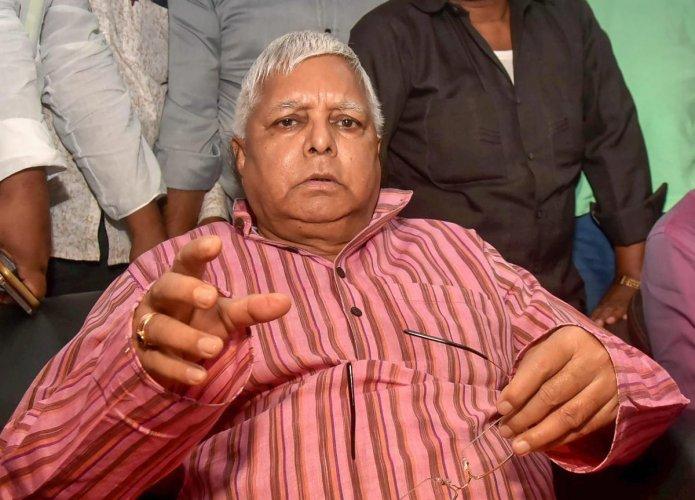 File picture of RJD chief Lalu Prasad. Photo credit: PTI