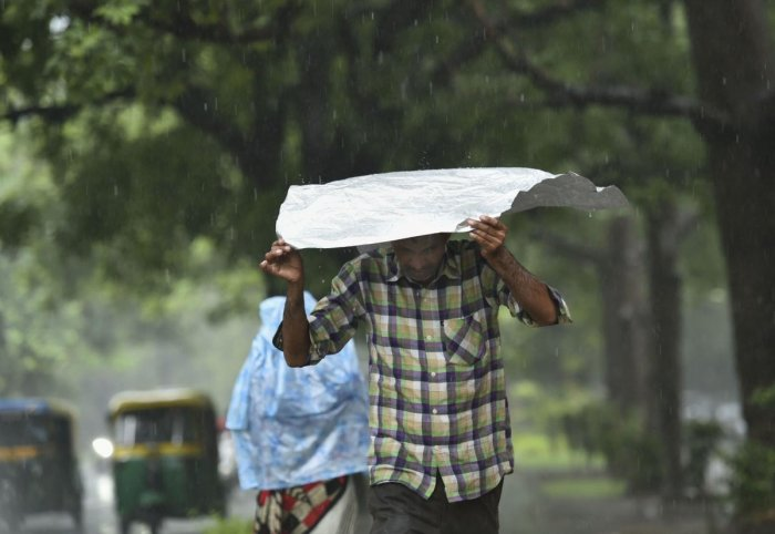 The India Meteorological Department has also predicted light rains or thundershowers on Sunday and Monday and an increase in temperatures. (PTI Photo)