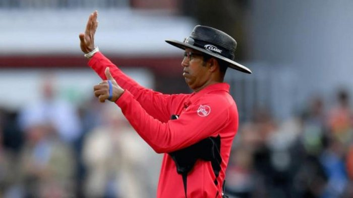 Kumar Dharmasena has been at the centre of controversy for giving six runs to England. Photo credit: DH