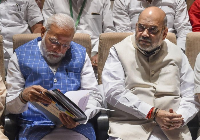 File picture of Prime Minister Narendra Modi and Union Home Minister Amit Shah. Photo credit: PTI