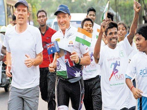 Aussie on 'Spirit of India Run' from Kanyakumari