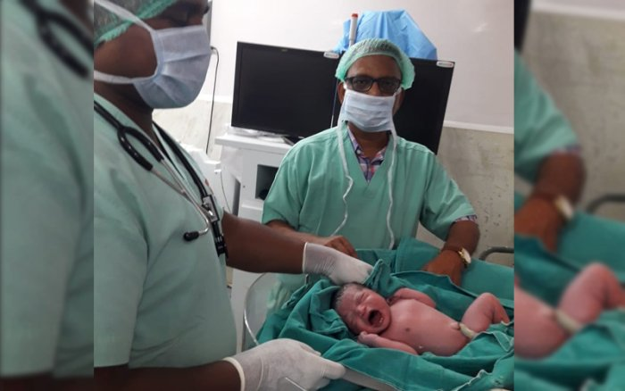 The baby was born at 11.03 am in the railway hospital in Mancheswar, barely five km from the Odisha capital Bhubaneswar. (ANI/TWITTER)